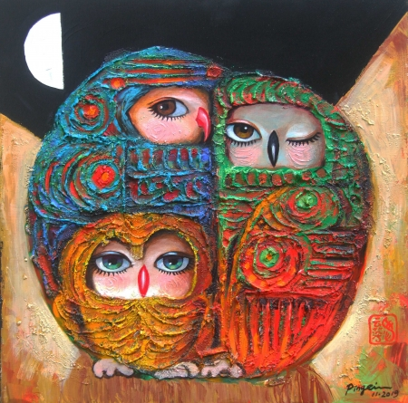 Three Together by artist Ping Irvin